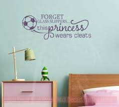 This Princess Wears Cleats Soccer Wall Decals Vinyl Letters Art Girl Decor Quote Ebay