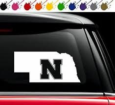 Nebraska Huskers State Vinyl Decal Car Truck Window Sticker University Love Ne Ebay