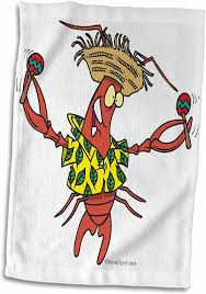 Funny Toasting Lobster Cartoon Towel ...
