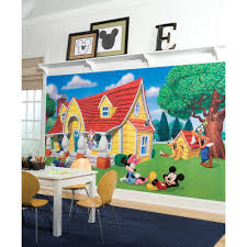 Roommates 5 In X 19 In Mickey And Friends Mickey Mouse Peel And Stick Giant Wall Decal 9 Piece Rmk1508gm The Home Depot