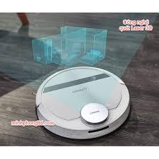 Robot hút bụi lau nhà Ecovacs Deebot DN55, Giá tháng 9/2020