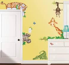 Amazon Com Borders In The Jungle Wildlife Animal Stickers Wall Decals Children Bedroom Decor Home Kitchen