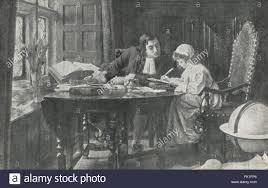 Jonathan Swift Educating Esther Johnson AKA Stella Stock Photo - Alamy