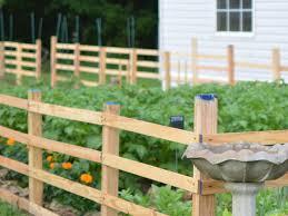 split rail vegetable garden fence