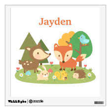 Woodland Nursery Wall Decals Stickers Zazzle