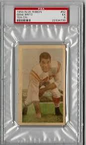 1954 BLUE RIBBON Cfl~#27~Avatus Stone~Psa 8~Syracuse Orange, Ottawa Rough  Riders - $595.00 | PicClick