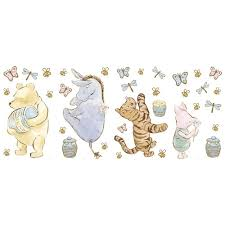 Cool Deals 18 Of Decorate By Color Bc1585023 Classic Pooh Appliques Multicolor Present On Today Winnie The Pooh Wall Stickers