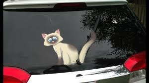 Wagging Cat And Waving Kitten Wipurrtag Designs For Rear Vehicle Wiper Blades By Wipertags Youtube