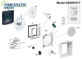 fan tastic vent 6600r 417