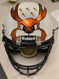 high school football helmet in Illinois ...