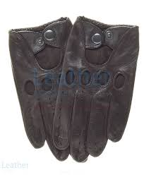 brown leather fashion driving gloves