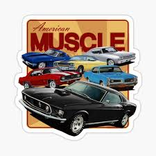 Muscle Cars Stickers Redbubble