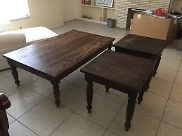 barrel plantation 3 piece coffee table