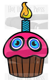 Fnaf Cupcake Svg Dxf Files For Silhouette For Cricut Vector Etsy