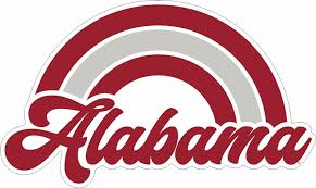 Bama Alabama Rainbow Decal Alumni Hall