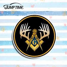 Jump Time 10cmx10cm For Masonic Compass Square Deer Buck Antler Decal Sticker Car Styling Vinyl Decal Waterproof Diy Accessories Aliexpress