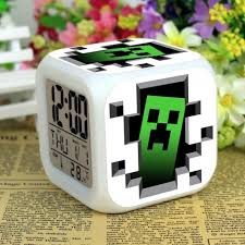 Kids Gifts Minecraft Toys Led Flash Alarm Clock Kids Bedroom Lights Best Gifts For Kids