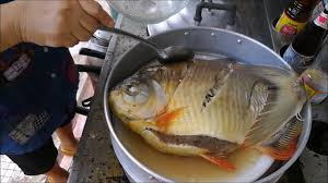 Steamed Pompano Fish with soy sauce ...