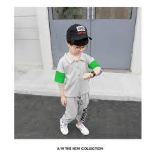 Bộ áo thun ngắn tay và quần thun dài phong cách thời trang Hàn Quốc dành cho  bé trai từ 18 tháng - 8 tuổi giảm chỉ còn 283,013 đ