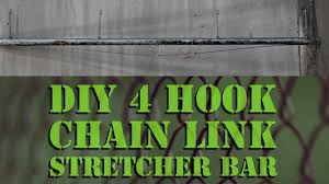 Diy 4 Hook Fence Stretcher Bar For Chain Link Youtube