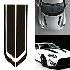 86cm Car Black Racing Sports Strip Racing Hood Decal Auto Vinyl Bonnet Stickers Ebay