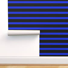 thin blue line large spoonflower