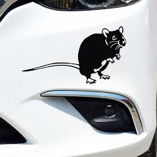 Cute Rat Mouse Car Stickers Bumper Waterproof Auto Decals Hamster Strong Adhesive Car Styling Sticker Wish