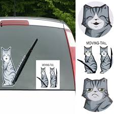 Car Gadgets Moving Tail Decoration Cute Kitty Car Decal Cat Tail Car Decal Alexnld Com