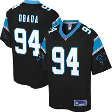 Mens Carolina Panthers Efe Obada NFL Pro Line Black Player Jersey