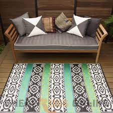 150x238 Outdoor Plastic Rug Indiana Black Aqua Waterproof Modern Mat Fab Rugs With Images Outdoor Plastic Rug Plastic Rug Rugs