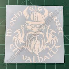 In Odin We Trust Til Valhalla Thor Viking Military Tactical 2a Decal Sticker Ebay