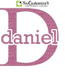 Name Initial For Guys Glitter Sticker Decal Custom Sized Personalized Youcustomizeit
