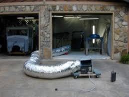 homemade garage paint booth