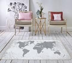 3d Grey World 317 World Map Non Slip Rug Mat Aj Wallpaper