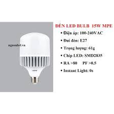 Bóng đèn led bulb 15W MPE (NÊN MUA), GIÁ TỐT, UY TÍN, HÀNG CHẤT LƯỢNG, AN  TOÀN, TIẾT KIỆM ĐIỆN NĂNG TIÊU THỤ.