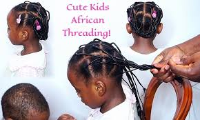 african threading protective hairstyle