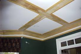 great coffered ceiling out of simple