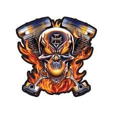 Skull Pistons On Fire Large Size Vinyl Sticker Decal For Truck Car Cornhole Board Sticker 16 Walmart Com Walmart Com