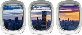 Amazon Com Vwaq Cityscape Window Decal City Skyline Wall Mural Airplane Sticker Decor Ppw42 Home Kitchen