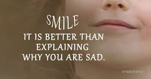 always wear a smile on your face smile positive texter