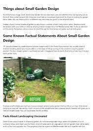 The Facts About Small Garden Design Revealed