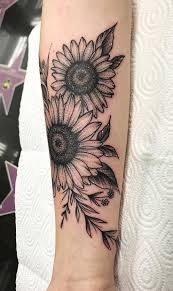 Creative Sunflower Tattoo C Tattoo Artist Pmztattoo With Images