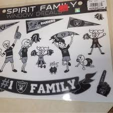 Shop Nfl Oakland Raiders Spirit Family Car Window Decal 16 Stickers Overstock 23076635