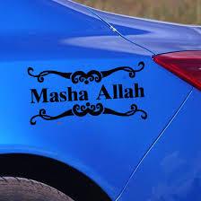 Vinyl Calligraphy Quotes Car Sticker Masha Allah Car Body Art Decoration Car Sticker Waterproof Car Decal Y 469 Art Decor Stickers Allahstickers Quotes Aliexpress