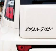 Zoom Zoom Logo Car Bumper Decal Sticker Mazdaspeed Mazda Protege Mp5 3 6 Wish