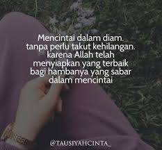 kata kata cinta dalam diam islami quotes