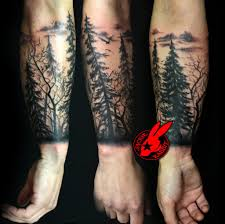 Deviantart More Like Tree Sihlouette Arm Tattoo By Jackie Rabbit