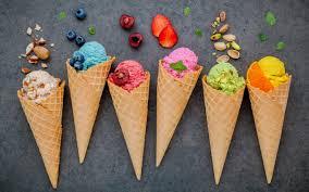 تحميل خلفيات مختلفة من الفاكهة الآيس كريم الحلويات الحلوى الآيس