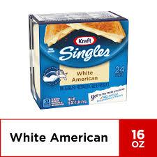 kraft singles cheese slices white