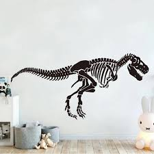 Large Skeleton T Rex Dinosaur Wall Decal Jurassic Park Animal Zoo Dino Wall Sticker Home Decor Kids Room Bedroom Wallpaper 3849 Wall Stickers Aliexpress
